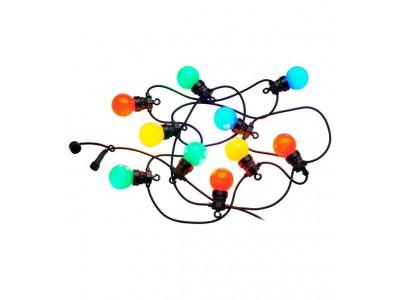 Lumisky Lichtsnoer Party Guiguette met 10 multicolor led lampjes