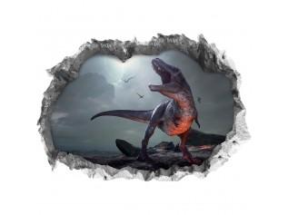 3-D Zelfklevende Muurposter T-Rex