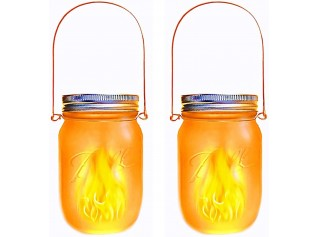 Lumisky solar Led-lantaarn Jamy Flame - set van 2