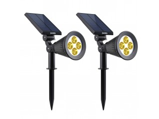 Lumisky dubbele solar spotlight led buitenverlichting Spiky Warm